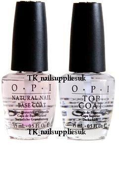 OPI, Set di base per smalto effetto unghie al naturale e Top Coat, 15 ml