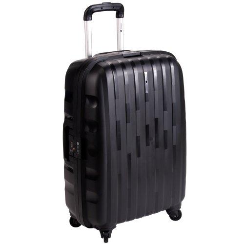 Delsey Luggage Helium Colours Lightweight Hardside 4 Wheel Spinner, Black, 30 Inch special discount