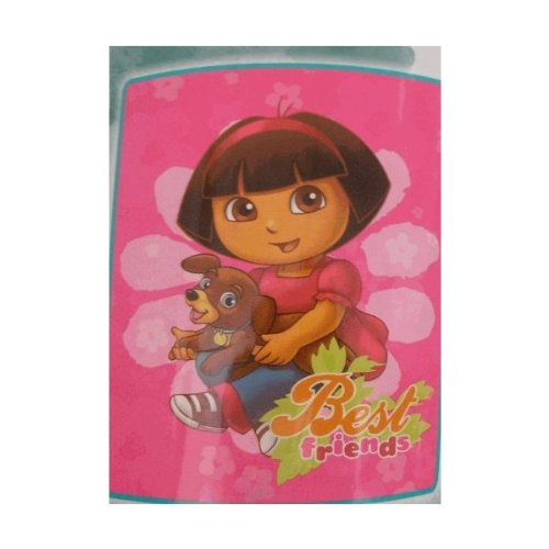 Dora the Explorer with Puppy Micro-Raschel Throw Blanket - 1
