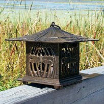 Dragon Fly Tea Lantern French Bronze