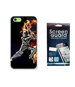 KolorEdge IPL Back case + Screen Protector for Apple iPhone 5C - Multicolor
