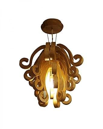 Lampsbuyer artistic design natural wood chandelier for Natural wood chandelier