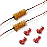 LEDバルブ対応 ハイフラ防止球切れ警告灯対策用メタルクラッド抵抗セット