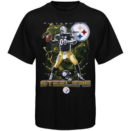 NFL Pittsburgh Steelers Black The Quarterback T-shirt