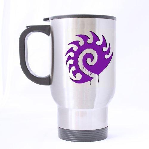 StarCraft Purple Zerg Logo Pattern Customized Design Travel Mug Coffee Mug Creative Sport Cup Personalized Tea Cup 14OZ