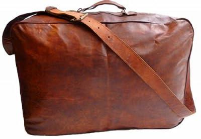 Gusti Genuine Leather Suitcase Vintage Travel Luggage Holdall Weekender Overnight Bag Shoulder Bag Sports Bag Duffel Bag Unisex R7A
