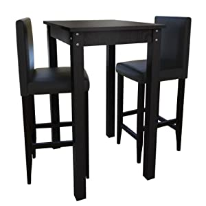 Bar Table With 2 Bar Chairs Black Kitchen Home
