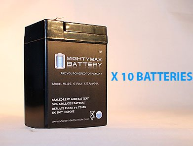 Ml4-6 - 6V 4.5Ah Ups Battery For Eagle Picher Cf6V4.5 - 10 Pack