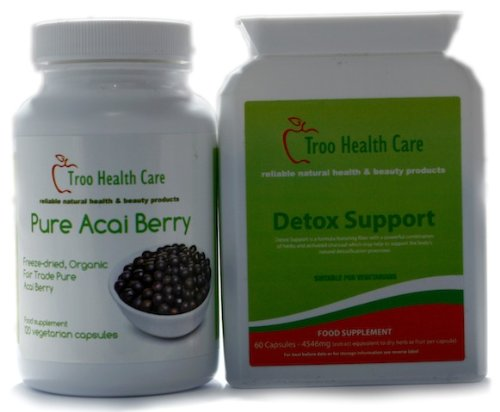 Pure Amazon Freeze Dried Acai Berry & Detox Support Colon Cleanse & Weight Loss Value Pack