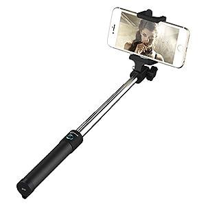 Palo Selfie, JETech Selfie Stick De una Sola Pieza en Forma de U Bluetooth Monopie Autorretrato Extensible Wireless Selfie Palillo con una Función de Disparador Remoto Bluetooth con Soporte para Teléfono Ajustable - 2003