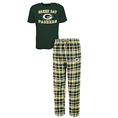 "Green Bay Packers NFL ""Tiebreaker"" Men's T-shirt & Flannel Pajama Sleep Set"