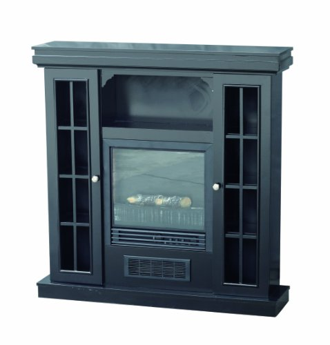 Stonegate® Black Storage Mantle Electric Fireplace image