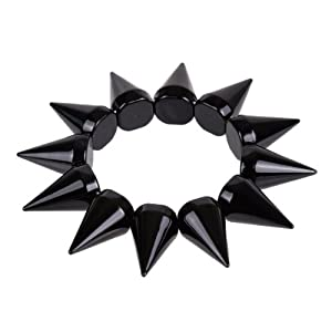 Amazon.com: Unisex Studded Rock Star Stunning Rivets Spike Stretch Bracelet for Women and Men: Jewelry from amazon.com
