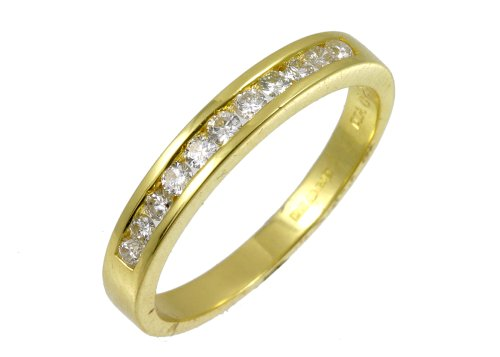 0.25 Carat I2-I3 Diamond Channel Setting Eternity Ring in 9ct Yellow Gold