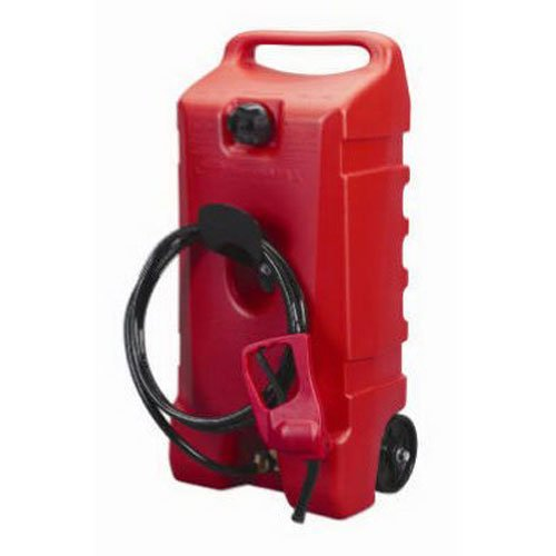 DuraMax Flo n' Go LE Fluid Transfer Pump and 14-Gallon Rolling Gas Can (Gallon Gas Tank compare prices)