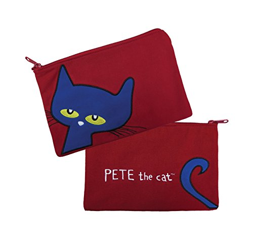 MerryMakers Pete the Cat Canvas Pencil Case, 6 x 9 Inches
