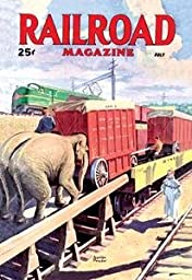 30 x 20 Stretched Canvas Poster Railroad Magazine: The Circus on the Tracks, 1946