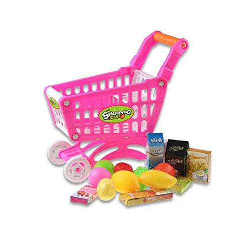 Coolplay-Mini-Shopping-Cart-with-Full-Grocery-Food-Toy-Prentend-Play-Playset-for-Kids-108-x-79-x12inch-Pink