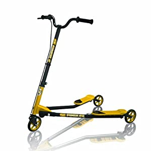 Amazon.com : Y-Volution Y Fliker F3 Flow - Black/Yellow : Three Wheeled Sports Scooters : Sports ...