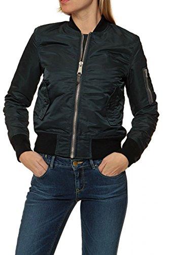Schott Damen Jacke Blouson-Jacke , Farbe: Dunkelblau