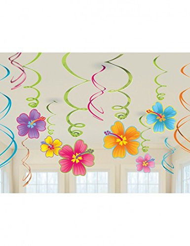 Cheap Luau Swirl Hanging Decorations Value Pack (Each), Model:
