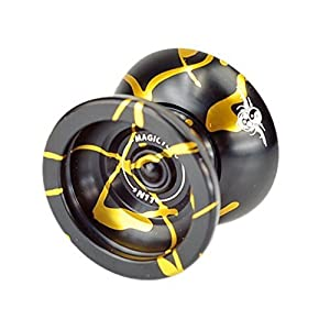 MagicYoYo New Design Magic Yoyo N11 Alloy Aluminum Professional Yo-yo Yoyo Toy YoYo ball (Black With Golden)