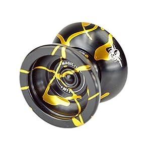 MagicYoYo New Design Magic Yoyo N11 Alloy Aluminum Professional Yo-yo Yoyo Toy YoYo ball (Black With Golden)