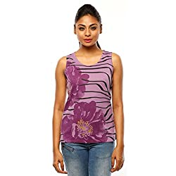Huetrap Women's Bloom Burst Sleeveless Tank Top