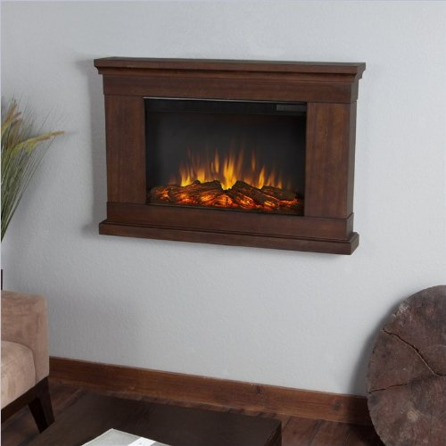 Real Flame Jackson Slim Line Wall Hung Electric Fireplace - Vintage Black Maple image B00G7JCVZK.jpg