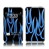 iPod Touch (1st gen) skin - Blue Neon Flames - High quality precision engineered removable adhesive skin by Decalgirl for the iPod Touch launched in 2008 (1st generation)by DecalGirl