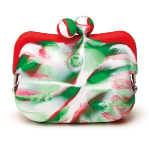 Candy Store Silicone Coin Purse - Candy Cane Swirl