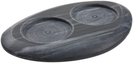 T&G Marble Art Support pour 2 moulins Marbre Noir