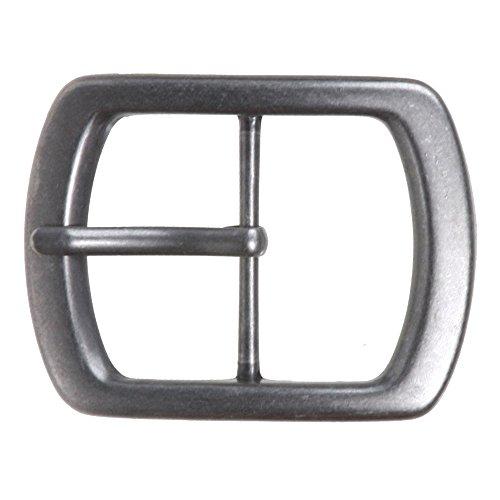 "1 3/4"" (44 mm) Nickel Free Center Bar Single Prong Oval Belt Buckle Color: Antique Silver"