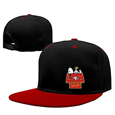 San Francisco 49ers Snoopy Snapback Adjustable Caps One Size--Red