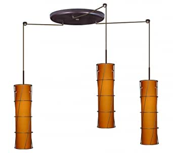 stilo 16 three light cord hung mini pendant with large. Black Bedroom Furniture Sets. Home Design Ideas