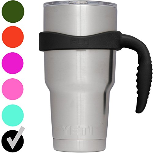 GLO - YETI Tumbler Cup Handle For 30 Oz Rambler - Fits Ozark Trail, RTIC & more - (Black)
