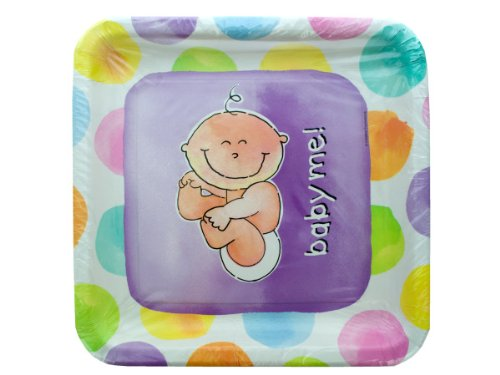 Creative Expressions Baby Me Banquet Plate, Sq - 1
