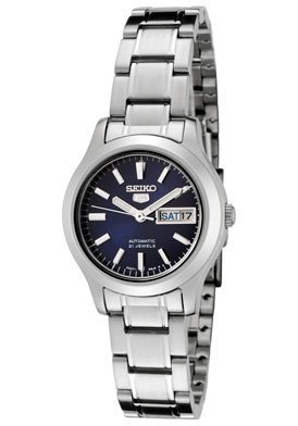 Seiko Women's SYMD93K1 Seiko 5 Automatic Blue Dial Stainless Steel Watch (Ladies Blue Dial Watch compare prices)