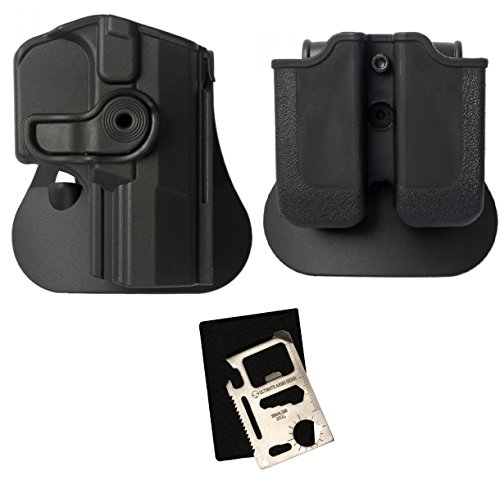IMI Defense Z1350 Rotate Holster Walther P99 Right Hand, Black + Z2030 MP03 Double Mag Pouch + Ultimate Arms Gear