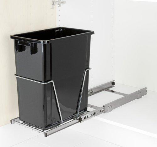 Wenko 5960100 cubo de basura con rieles para sacar de - Rieles para baldas extraibles ...