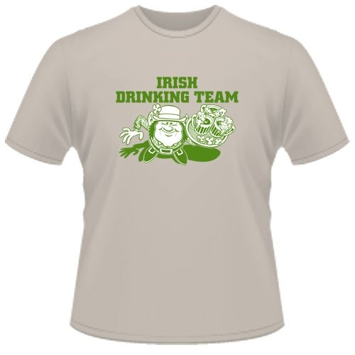 FUNNY T SHIRT : Irish Drinking Team: Toys & Games
