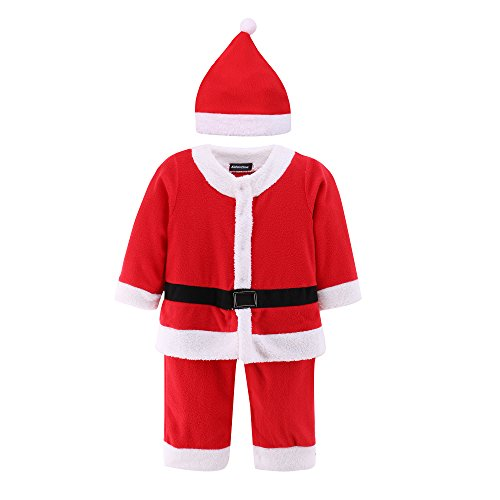Baby Santa Romper Costume with Hat Infant and Toddler Christmas Costumes