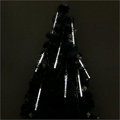 Yaruie 50Cm 8 Tube 240 Leds Snowfall Meteor Rain Light Tube For Holiday Party Christmas Xmas Decoration With Us Plug -White