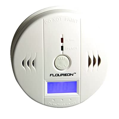 LCD CO Carbon Monoxide Detector Alarm Sensor-White from Storm Store