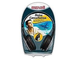 Maxell HP/NC-III Foldable Lightweight Noise Cancellation Headphones