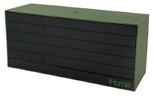 Ihome Ibn27Mx Nfc Bluetooth Rechargeable Stereo Mini Speaker In Rubberized Finish, Military