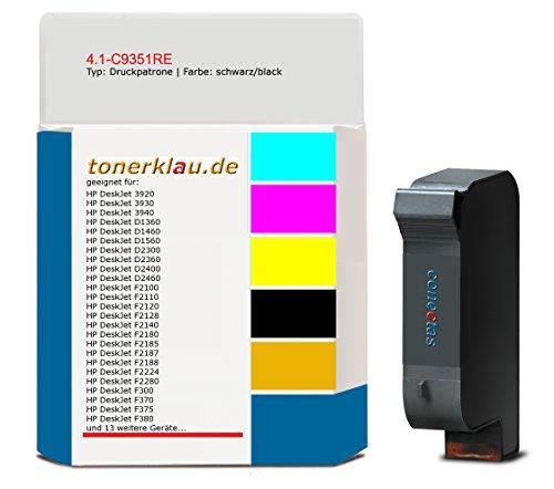 kompatibel Druckpatrone / Tinte 4.1-C9351RE für: HP DeskJet D2360 als Ersatz für HP C9351AE