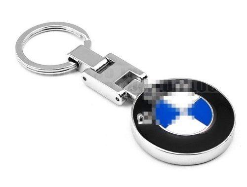 Fashion Car Accessories Auto Logo Chrome Pendant Key Ring Keychain Fit For BMW X5 X3 X6 M Series E90 E92 E93 E60