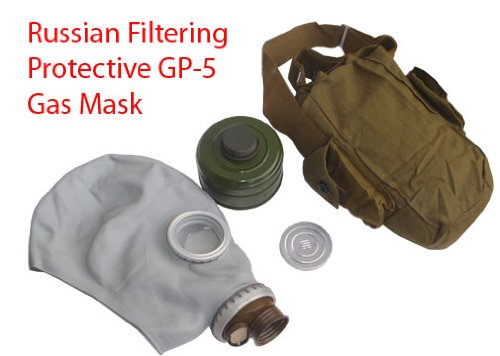 Soviet Russian WWII Gas Mask Adult w/ Shoulder Bag