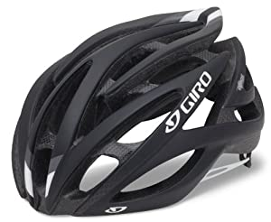 Giro Atmos Cycling Helmet (Matte Black/White, Medium)